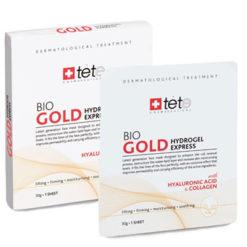 TETe გამაახალგაზრდავებელი მომენტალური მოქმედების ჰიდროგელის ნიღაბი კოლოიდური ოქროთი BIO GOLD HYDROGEL EXPRESS