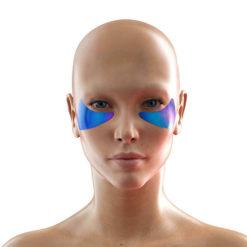 BLOM თვალის მიკრონემსებიანი პატჩები ასაკოვანი კანისთვის წითელი სამყურას იზოფლავონებით GLOBAL ANTI-AGE