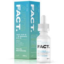 ART&FACT სახის დამატენიანებელი პილინგი-შრატი 5% რძემჟავით LACTIC ACID 5% +3D HYALURONIC ACID 2%