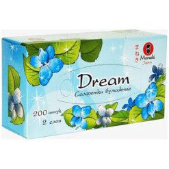 MANEKI ქაღალდის ორფენიანი თეთრი ხელსახოცები DREAM