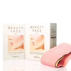 RUBELLI Набор масок для подтяжки контура лица+бандаж BEAUTY FACE PREMIUM