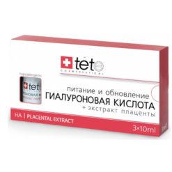 TETe ჰიალურონის მჟავა პლაცენტით სახის კანის კვებისა და განახლებისთვის HYALURONIC ACID+PLACENTAL EXTRACT. 40/45+