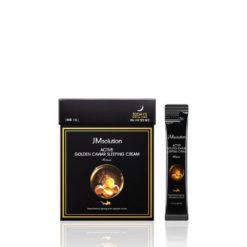 JMSOLUTION დამატენიანებელი ღამის ნიღაბი-კრემი ხიზილალით და ოქროთი ACTIVE GOLDEN CAVIAR SLEEPING CREAM PRIME