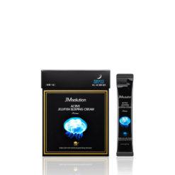 JMSOLUTION დამატენიანებელი ღამის ნიღაბი მედუზას ექსტრაქტით ACTIVE JELLYFISH SLEEPING CREAM PRIME