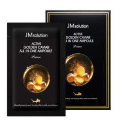 JMSOLUTION შრატი 3-1-ში ხიზილალითა და ოქროთი ACTIVE GOLDEN CAVIAR ALL IN ONE AMPOULE PRIME