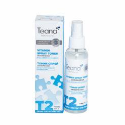 Teana  მატი ეფექტის მქონე ცხიმოვანი ბზინვარების საწინააღმდეგო ტონერი-სპრეი კომბინირებული,ცხიმიანი კანისთვის T2