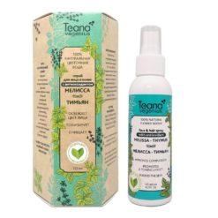 Teana სახის და თმის სპრეი-100% ნატურალური ყვავილების წყალი მელისას და ბეგქონდარას ექსტრაქტებით MELISSA THYMUS