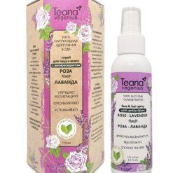 Teana სახის და თმის სპრეი-100% ნატურალური ყვავილების წყალი ვარდისა და ლავანდის ექსტრაქტებით  ROSE LAVENDER