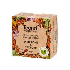 Teana სახის ნატურალური პუდრა-შრატი ტონის და რელიეფის გათანაბრებისთვის EVEN TONE&TEXTURE